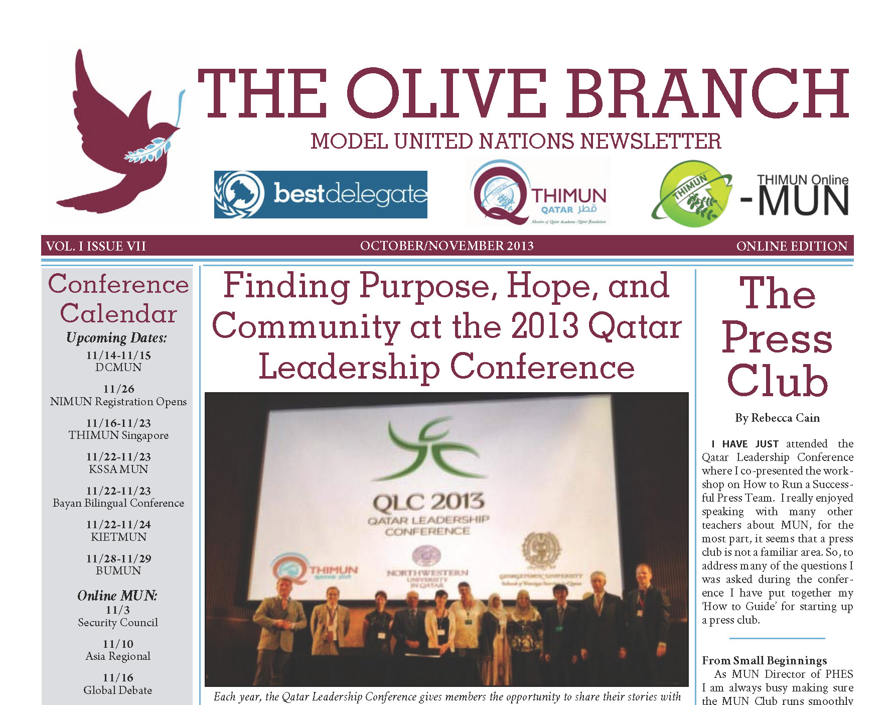 Why an Olive Branch?