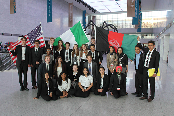 Travel to another world: US Delegation's visit to THIMUN Qatar