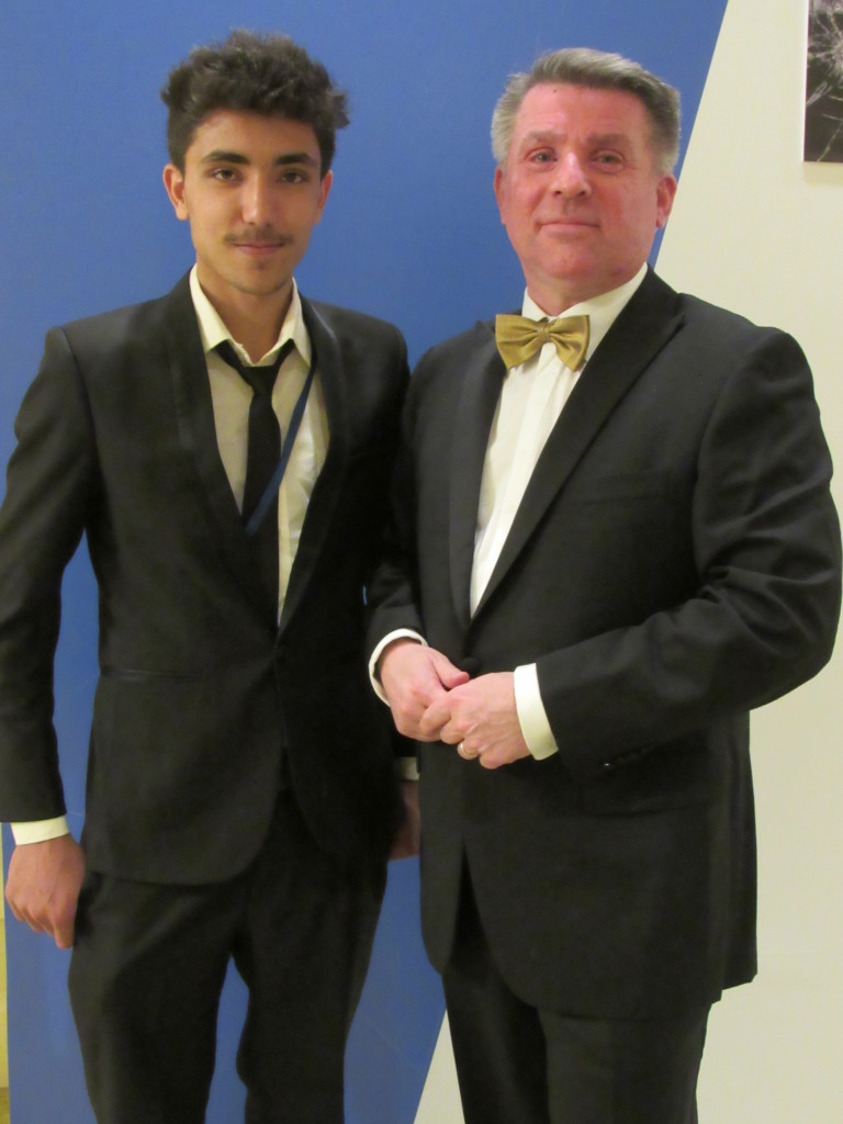 Club Leader, Rahmat, meeting up with Alain Medinger, Co-Chair of the THIMUN Foundation