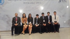 Samir, (second from right) with his MUN delegation.
