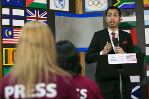 Mousa Al Waraki speaking at the Press conference hosted by Al Jazeera English