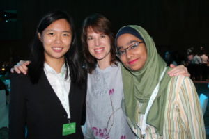 Jessica with Taipei American School MS MUN Director, Kristin Rowe, and future TQ SG, Adeeba Ahmad