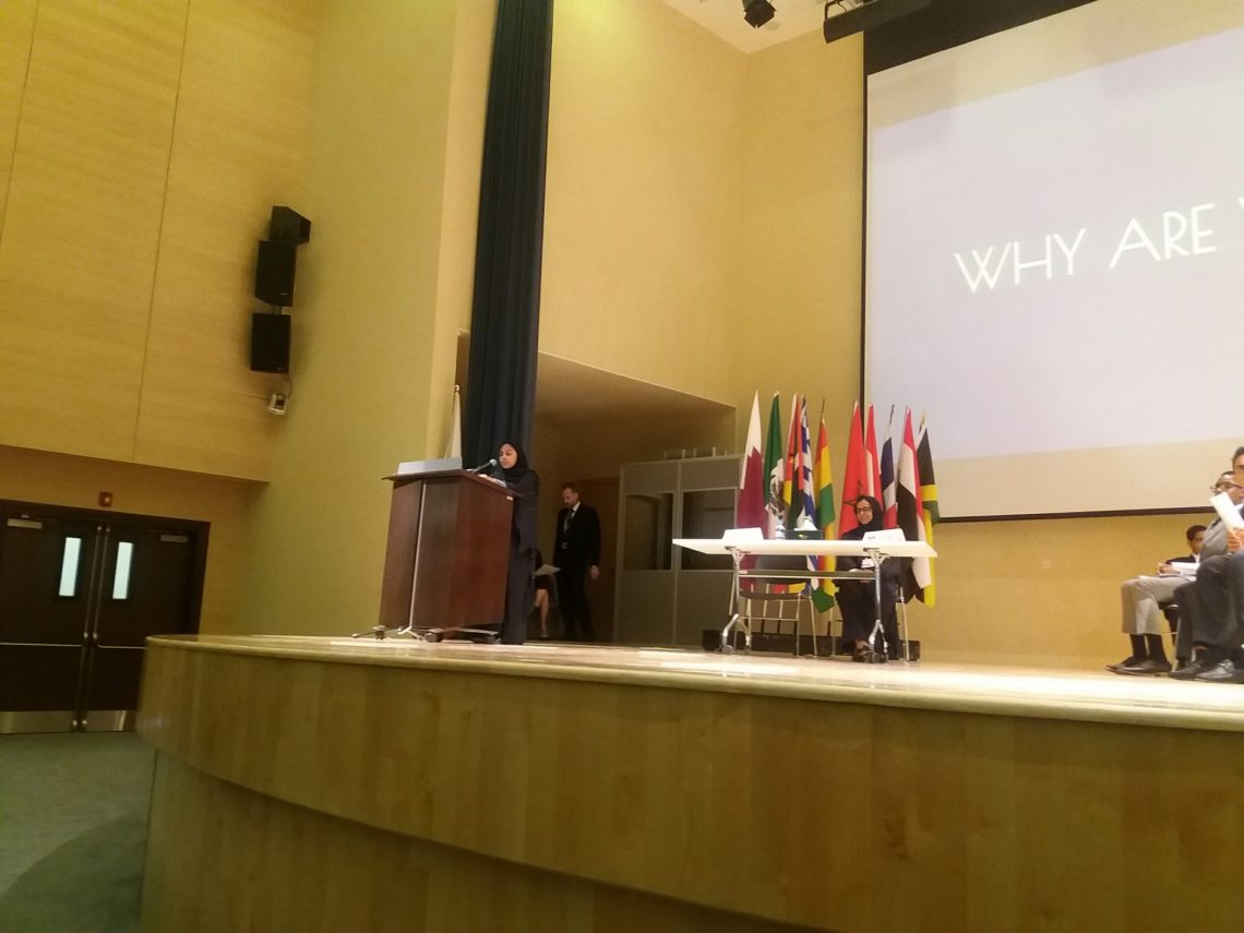 Awsaj Academy's Areej AlKaabi talks about the power of MUN