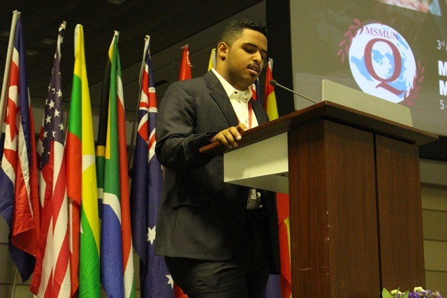 TQ Secretary General Keynotes MSMUN-Q Closing Ceremony
