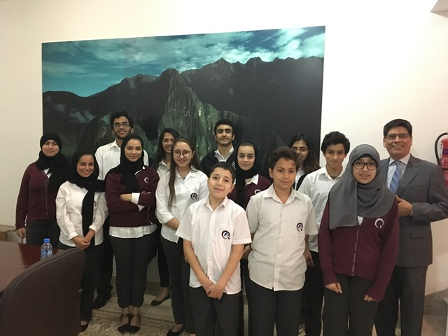 Middle School MUN Club visit to the Embassy of Peru