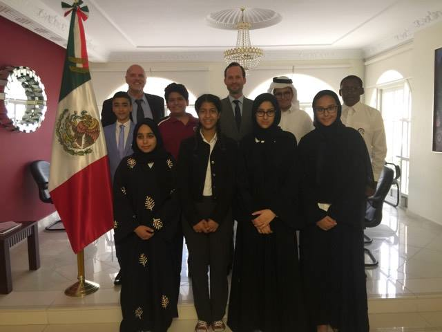 QA Al Khor visit Embassy of Mexico in MSMUN-Q Lead Up